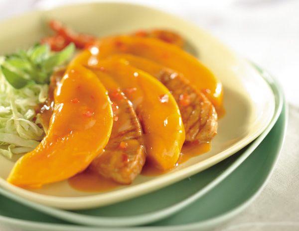 Bawang putih terong pedas dengan labu
