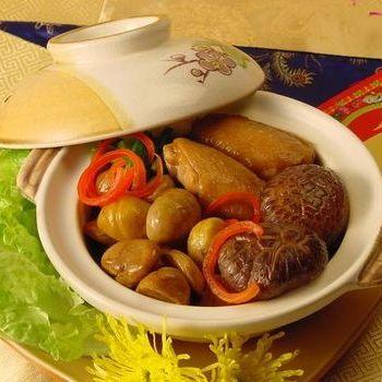 Sayap ayam kastanye dengan saus tiram