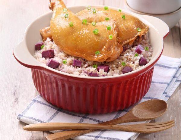 Nasi panggang drum stik – versi alat penanak nasi