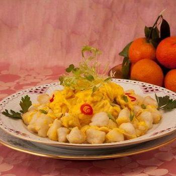 Telur Orak-arik dan ikan Fillet dengan Saus Tiram