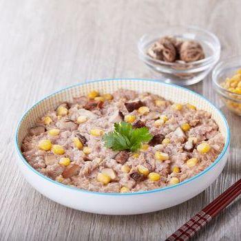 Daging Babi Kukus, Jamur Dan Meatloaf Jagung Manis