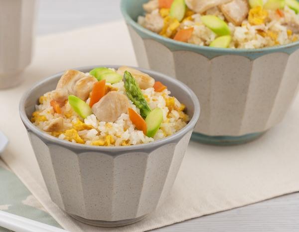 Nasi Goreng Ayam dengan Asparagus