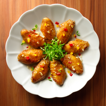 Sayap Ayam Goreng dengan Madu dan Kecap