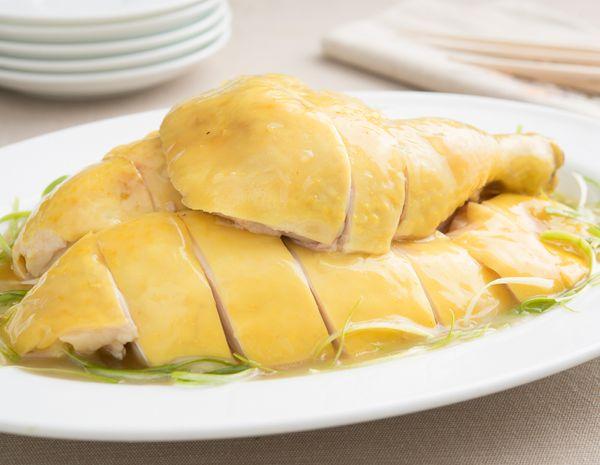 Ayam Bawang Putih dengan Minyak Daun Bawang