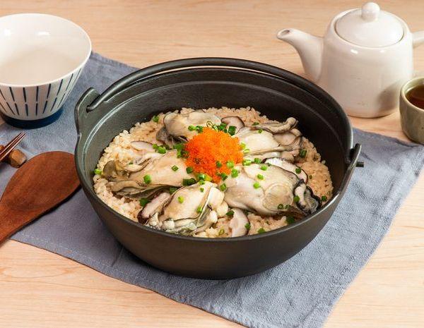 Pot nasi tiram Telur kepiting Jepang