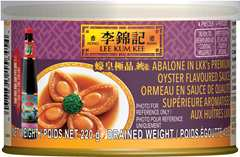 Abalone In LKK's Premium Oyster Flavoured Sauce, 220 g, can