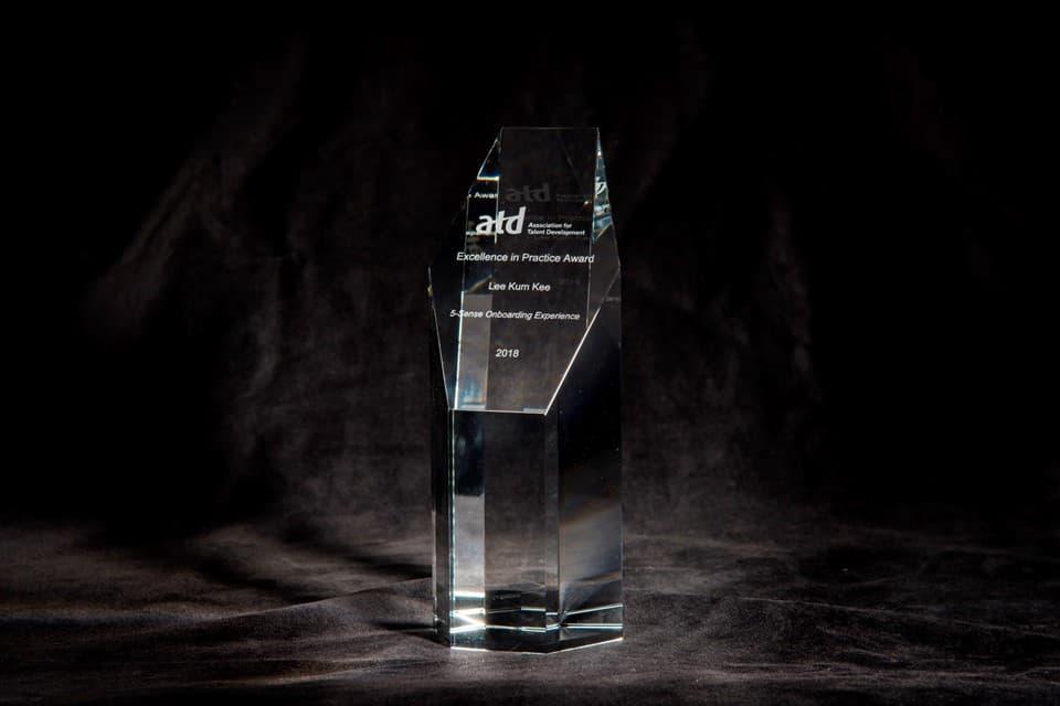 李錦記憑藉「五感入職體驗」實踐方案,榮獲美國人才發展協會頒發入職培訓類別的卓越實踐獎