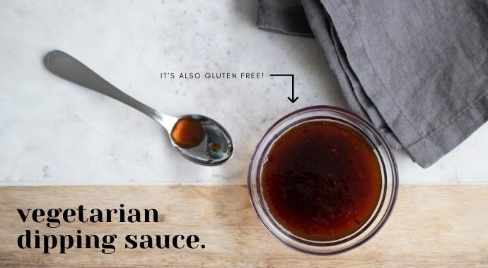 AUvegetarian dipping sauce