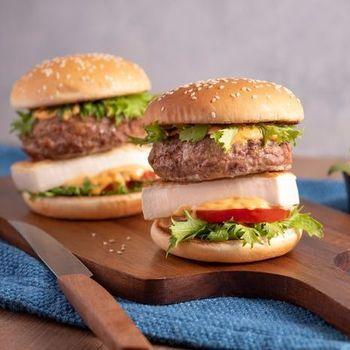 Pan-fried tofu burger
