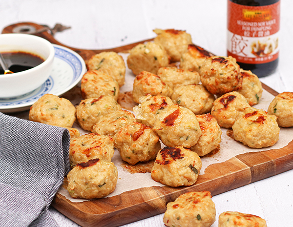 Cheesy Chicken  Soy Sauce Meatballs