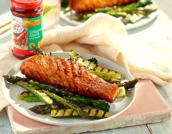 Chilli Garlic Glazed Salmon