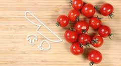 如何輕鬆將番茄切半