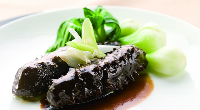 Braised Sea Cucumber with Leek