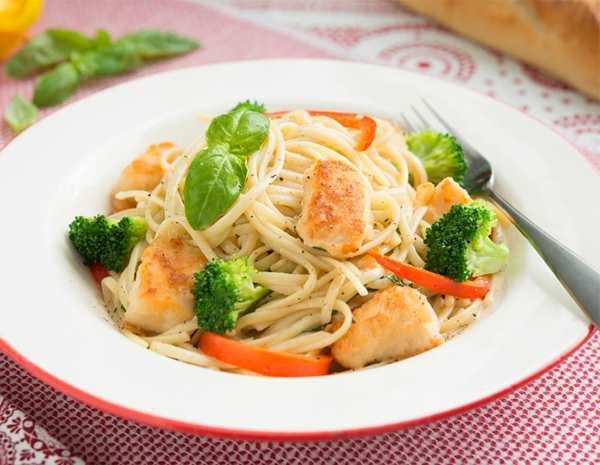 Recipe Chicken with Basil Spaghetti