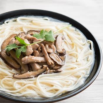 Recipe Mushroom and Pork Noodle Soup