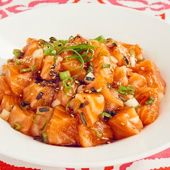 Recipe Salmon Poke woth Oyster Flavored Sauce