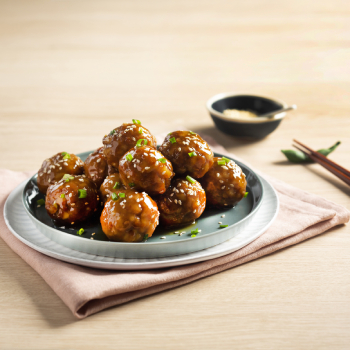 Sweet and Sour Meatballs with Lotus Root