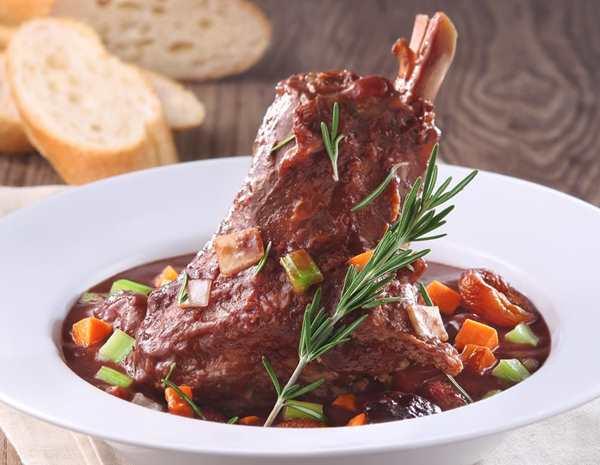 Recipe Aromatic Braised Lamb Shanks