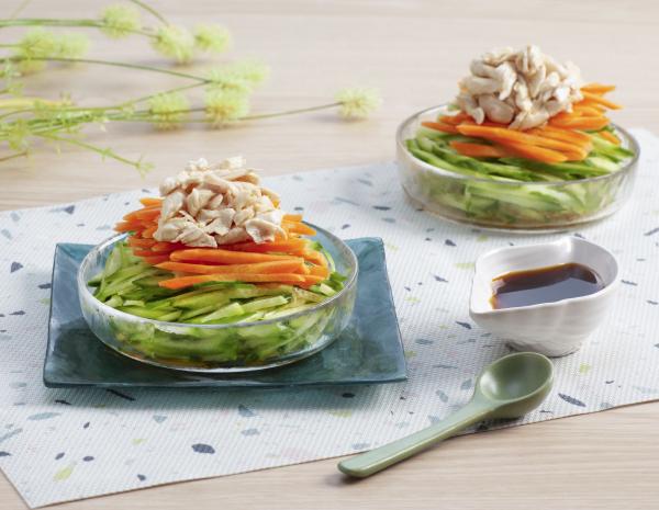 Salad Ayam dengan Wasabi Cuka
