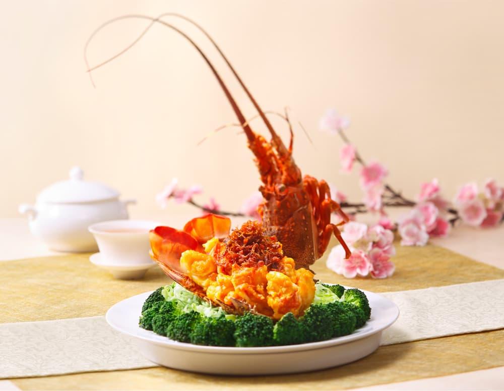 Golden Lobster Balls in XO Sauce