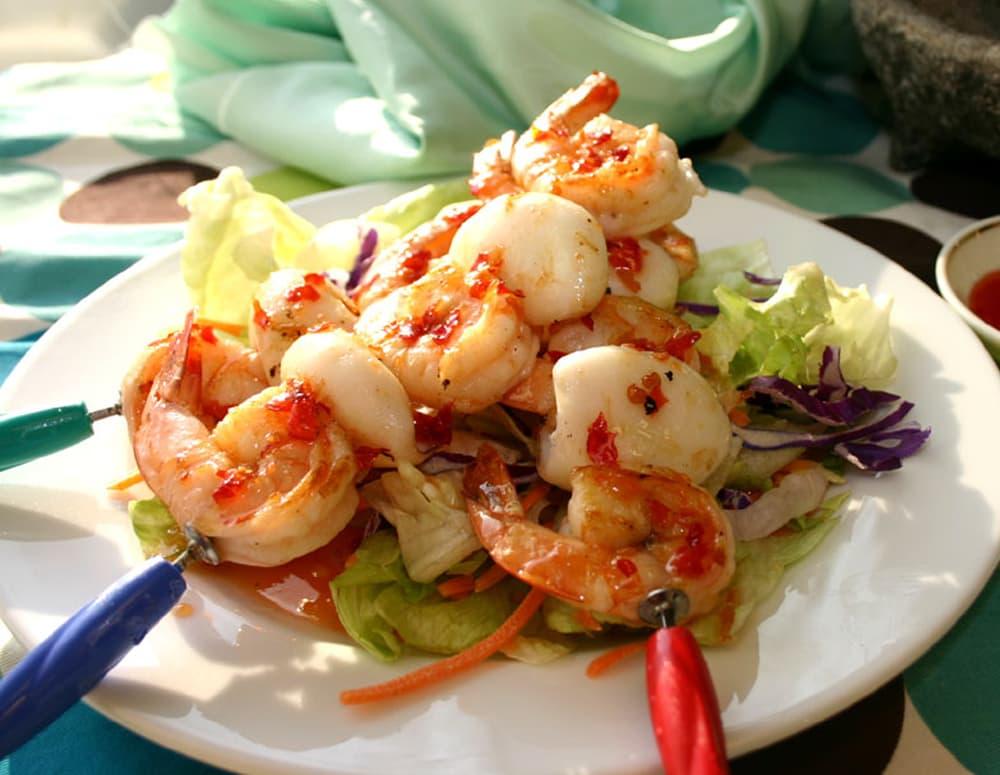 Recipe Grilled Seafood Skewers