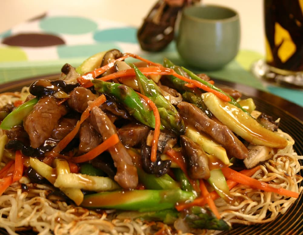 Recipe Pan-Fried Noodles with Hoisin Sauce
