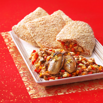 Recipe Sauted Oyster Dice in Sesame Puff S