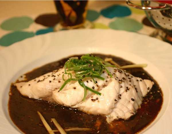 Recipe Steamed Fish with Ginger and Black Bean Garlic Sauce