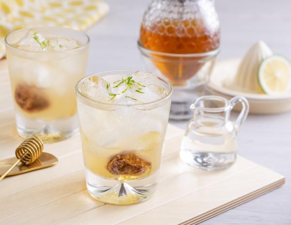 Honey Vinegar with Ginger and Lemon