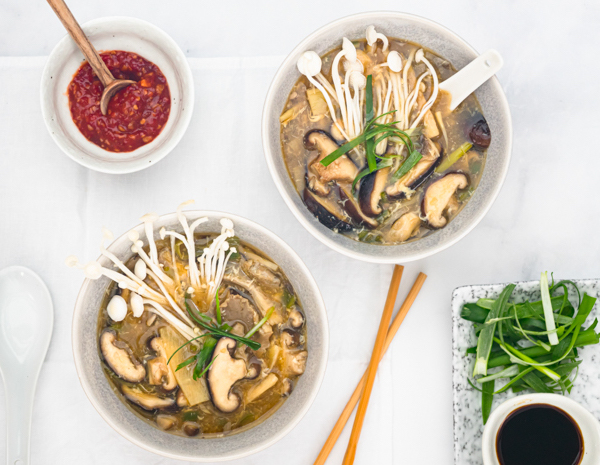Hot And Sour Mushroom Soup