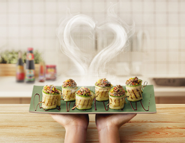 HQ Recipe Zucchini  Oyster Sauce Roulade