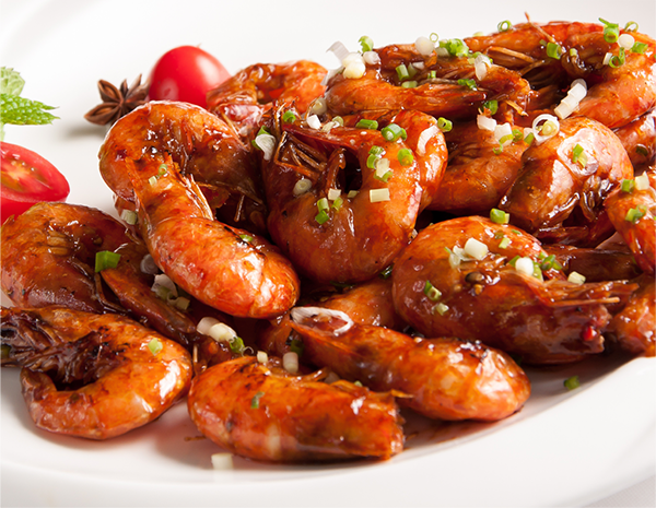 Pan Fried Prawns with Soy Sauce