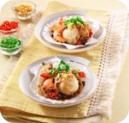 Steamed Scallops with Black Bean Garlic Sauce