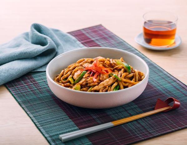 Stir-Fried Satay Chicken and Inaniwa Udon