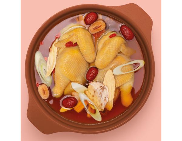 Drunken Chicken with Herbs Hotpot