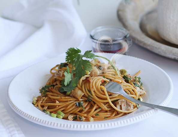 Mothers Day Soy Sauce Butter Pasta with Pork Belly