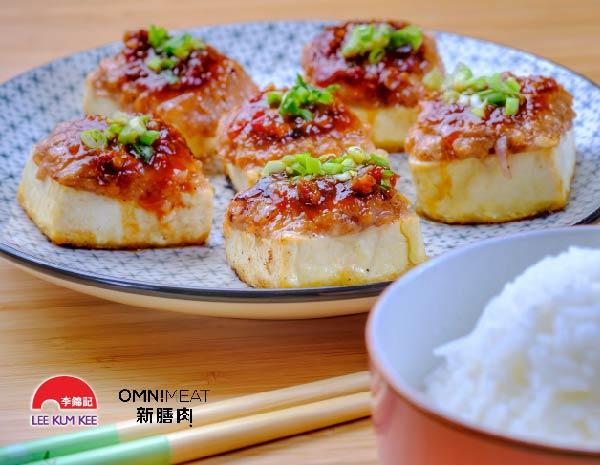 Fried Omnimeat Stuffed Tofu
