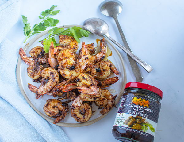PRAWNS WITH BLACK BEAN GARLIC SAUCE