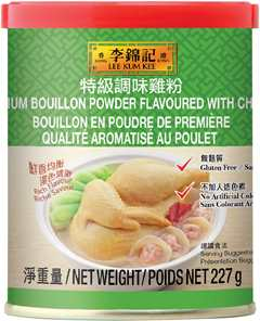 Premium Bouillon Powder Flavored with Chicken, 227 g can
