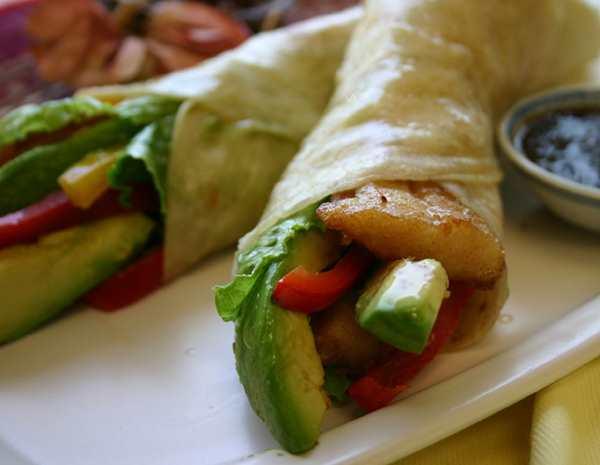 Recipe Avocado Fish Wrap