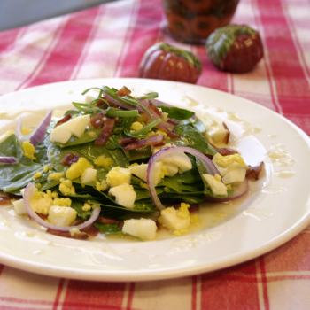 Recipe Bacon Spinach Salad with Plum Sauce Dressing