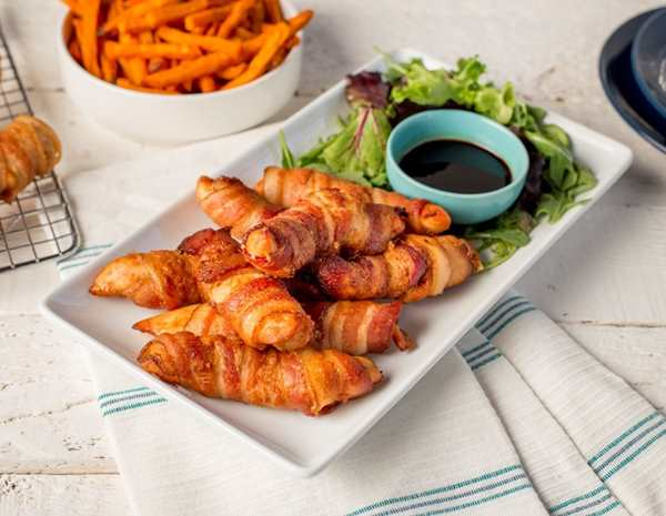 Recipe Bacon Wrapped Ginger Soy Chicken