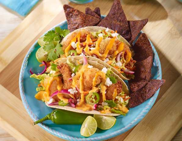 Recipe Baja Shrimp Taco with Sriracha Mayo