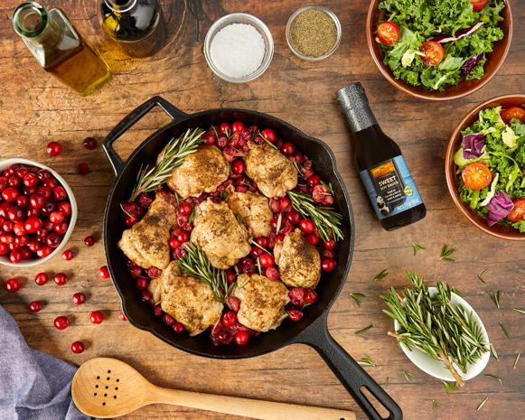 Recipe Balsamic Cranberry Roasted Chicken