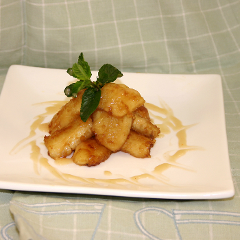 Recipe Banana with Coconut Lee Kum Kee Plum sauce