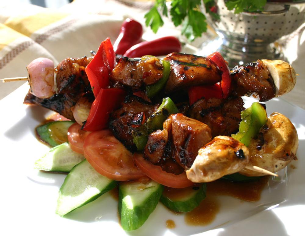Recipe BBQ Pork Skewers with Plum Sauce