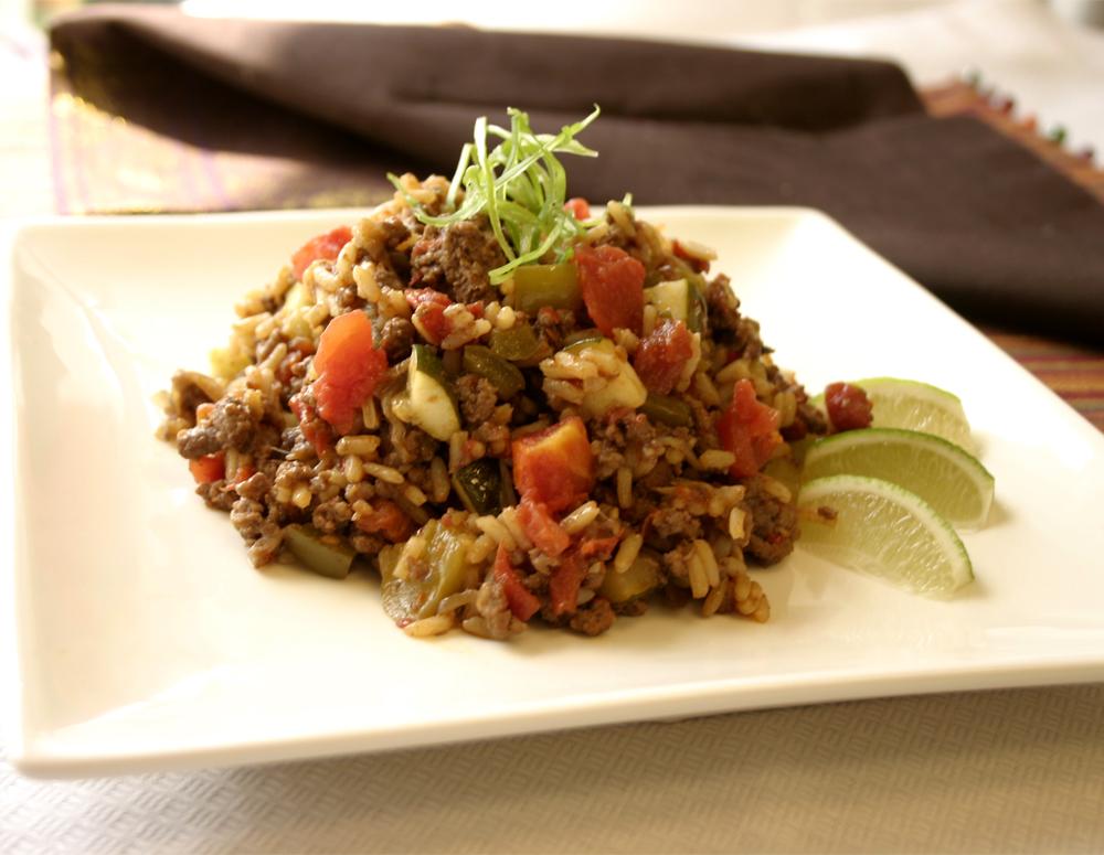Recipe Beef and Rice Casserole