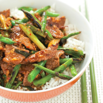 Recipe Beef Green Bean and Scallion Oyster Sauce Stir Fry