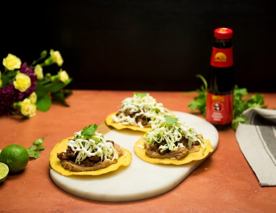 Recipe Beef Tostadas with Cilantro Lime Slaw