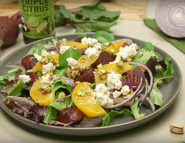 Beet And Goat Cheese Salad With Triple Citrus